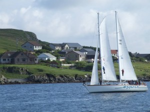 Esprit beim Tall Ships's Race 2011 vor Scalloway