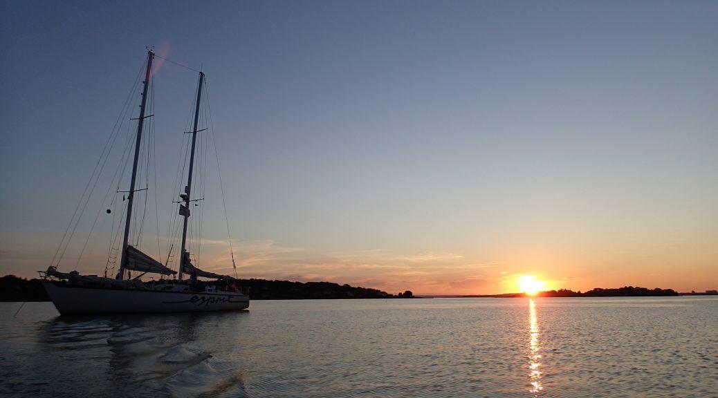 Esprit im Sonnenuntergang
